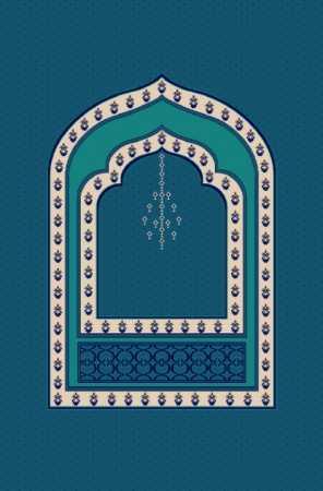 Myfloor M103-Koyu Mavi Mihraplı Cami Halısı