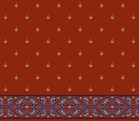Saflı Akrilik Cami Halısı S102KIREMIT