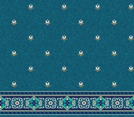 Saflı Akrilik Cami Halısı S124KOYUMAVI