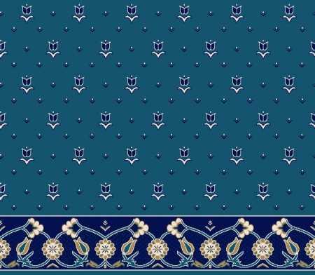Myfloor S101-Koyu Mavi Saflı Cami Halısı
