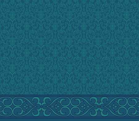Myfloor S105-Koyu Mavi Saflı Cami Halısı