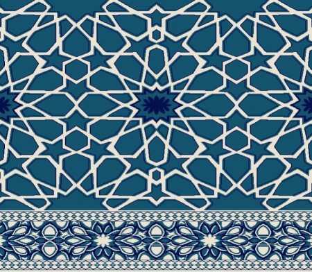 Myfloor S131-Koyu Mavi Saflı Cami Halısı