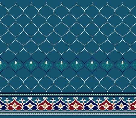 Myfloor S134-Koyu Mavi Saflı Cami Halısı