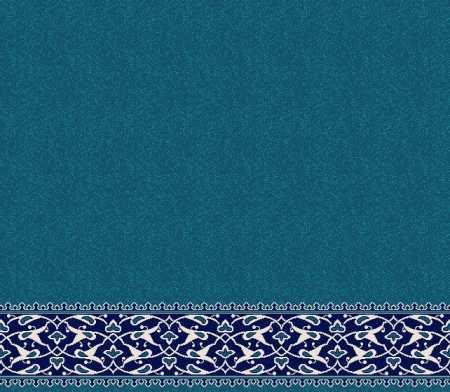 Myfloor S128-Koyu Mavi Saflı Cami Halısı