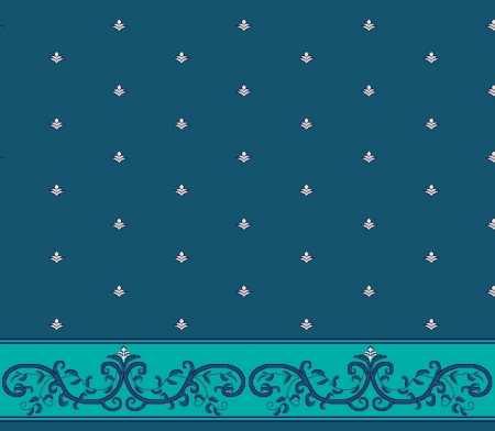 Myfloor S127-Koyu Mavi Saflı Cami Halısı