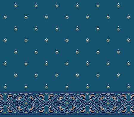 Myfloor S102-Koyu Mavi Saflı Cami Halısı