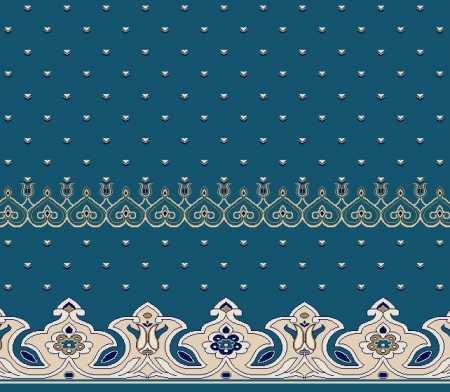 Myfloor S141-Koyu Mavi Saflı Cami Halısı