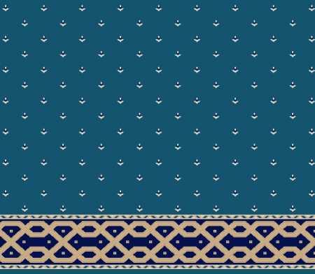 Myfloor S116-Koyu Mavi Saflı Cami Halısı