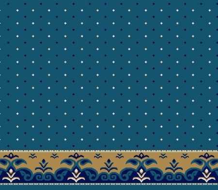 Myfloor S121-Koyu Mavi Saflı Cami Halısı