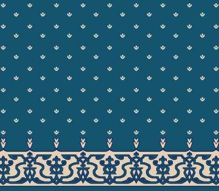 Myfloor S107-Koyu Mavi Saflı Cami Halısı