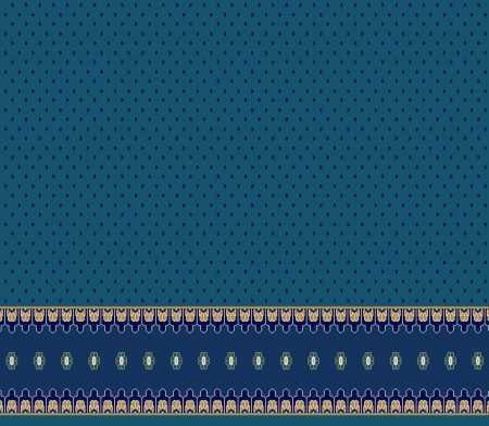 Myfloor S110-Koyu Mavi Saflı Cami Halısı
