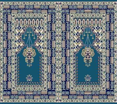 Mihraplı Akrilik Cami Halısı S144KOYUMAVI