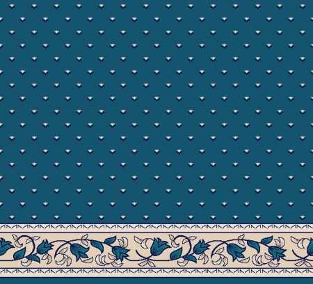 Myfloor S104-Koyu Mavi Saflı Cami Halısı