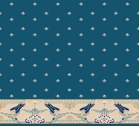 Myfloor S111-Koyu Mavi Saflı Cami Halısı