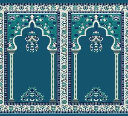 Myfloor S142-Koyu Mavi Mihraplı Cami Halısı