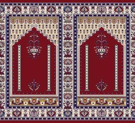Mihraplı Akrilik Cami Halısı S143BORDO