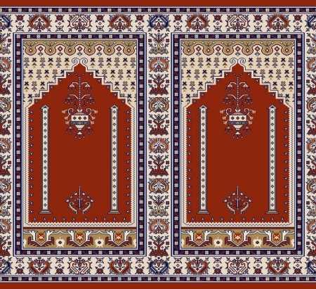 Mihraplı Akrilik Cami Halısı S143KIREMIT