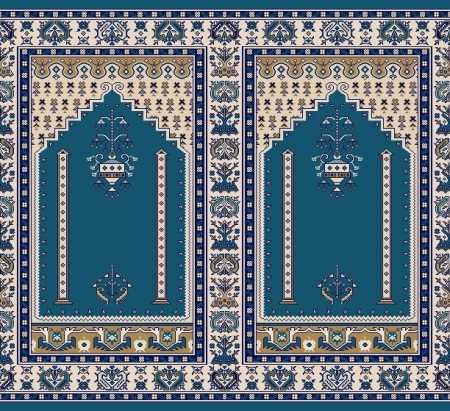 Mihraplı Akrilik Cami Halısı S143KOYUMAVI