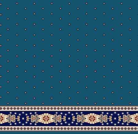 Myfloor S103-Koyu Mavi Saflı Cami Halısı