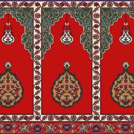 Myfloor Mihraplı Cami Halısı 2358KIRMIZI