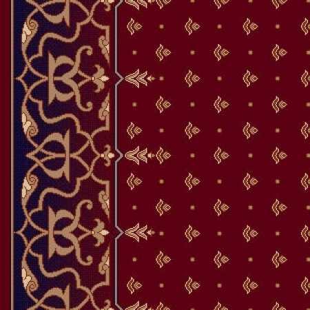 8174A Koyu Bordo Saflı Cami Halısı