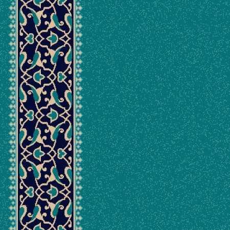 8322A Turkuaz Yeşil Saflı Cami Halısı