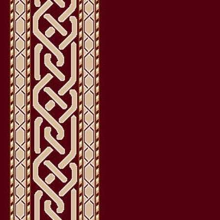 8346A Koyu Bordo Saflı Cami Halısı