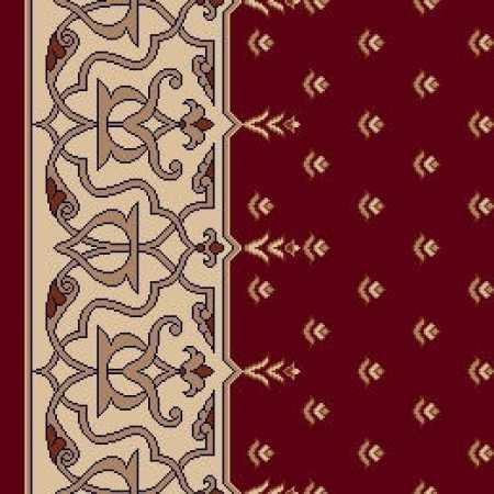 8071A Koyu Bordo Saflı Cami Halısı
