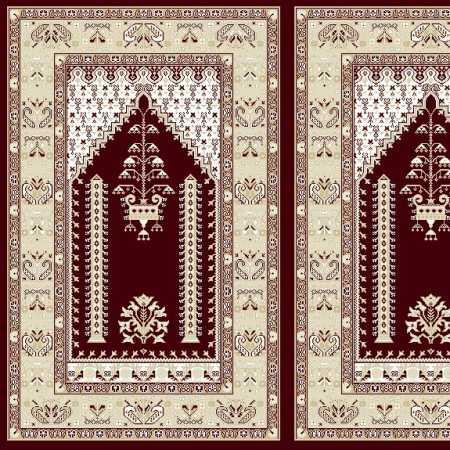Myfloor Mihraplı Cami Halısı 4505BORDO