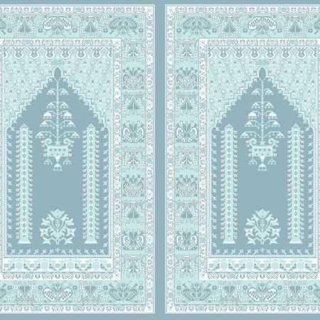 Myfloor Mihraplı Cami Halısı 4505MAVİ