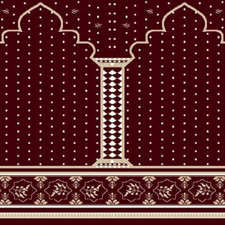 Myfloor Mihraplı Cami Halısı 4519BORDO