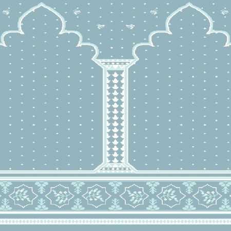 Myfloor Mihraplı Cami Halısı 4519MAVİ