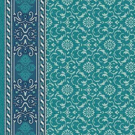 8343B Turkuaz Yeşil Saflı Cami Halısı