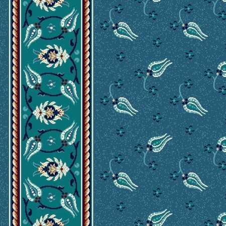 8365A Turkuaz Mavi Saflı Cami Halısı