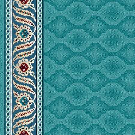 8402A Açık Turkuaz Saflı Cami Halısı
