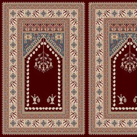 Myfloor Mihraplı Cami Halısı 5008BORDO