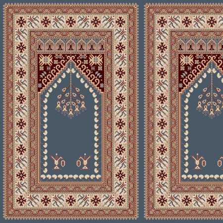 Myfloor Mihraplı Cami Halısı 5008MAVİ