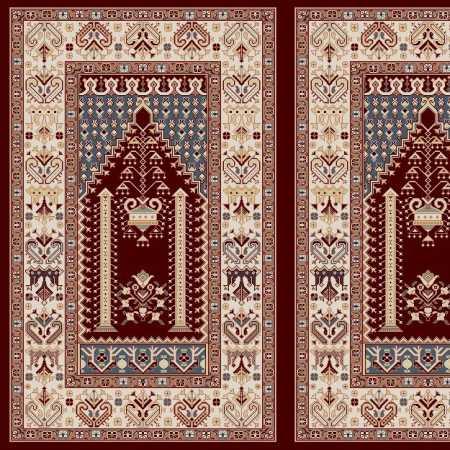 Myfloor Mihraplı Cami Halısı 5009BORDO