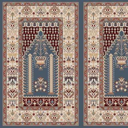 Myfloor Mihraplı Cami Halısı 5009MAVİ