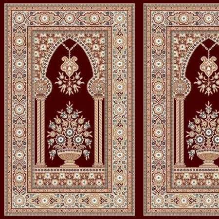 Myfloor Mihraplı Cami Halısı 5010BORDO