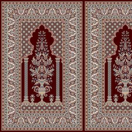 Myfloor Mihraplı Cami Halısı 5012BORDO
