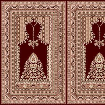Myfloor Mihraplı Cami Halısı 5013BORDO