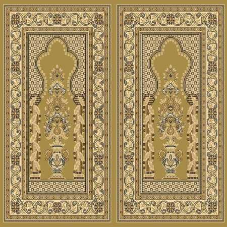 Myfloor Mihraplı Cami Halısı 8725MUSTARD