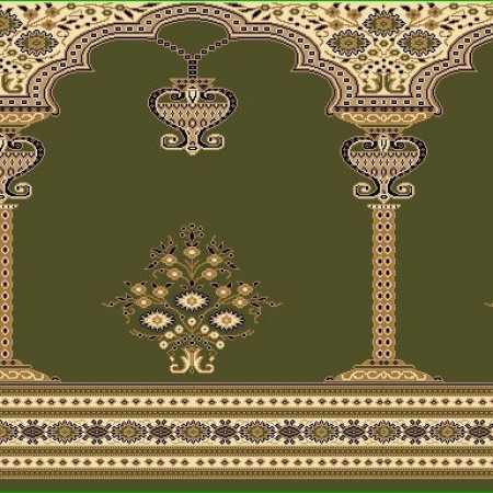 Myfloor Mihraplı Cami Halısı 9639GREEN