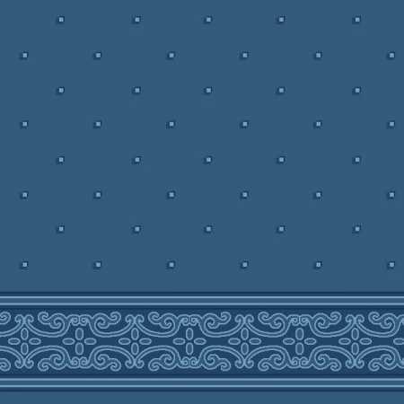 Çelebizade Açelya Saflı Cami Halısı Antik Mavi