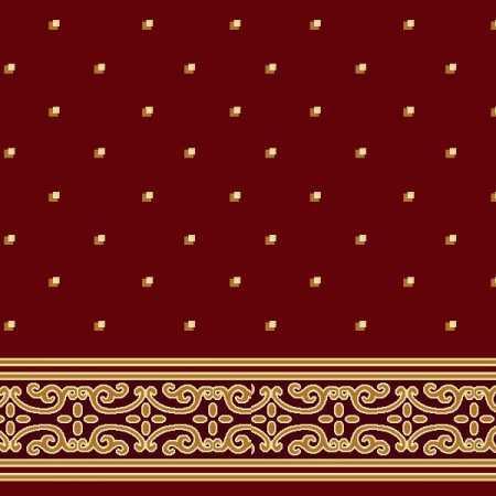Çelebizade Açelya Saflı Cami Halısı Kırmızı