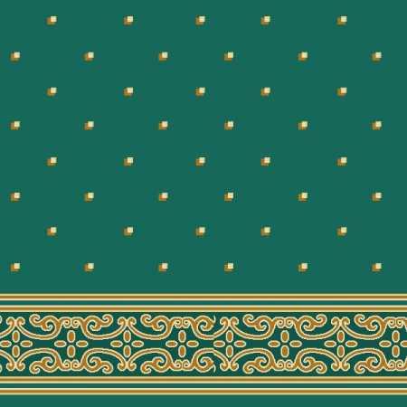 Çelebizade Açelya Saflı Cami Halısı Yeşil