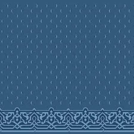 Çelebizade Fulyan Saflı Cami Halısı Antik Mavi