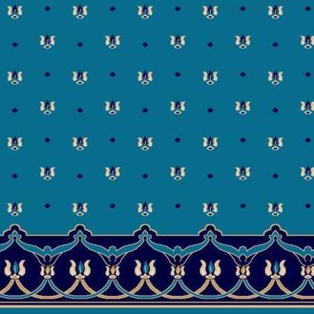 C045A K.Mavi Saflı Cami Halısı