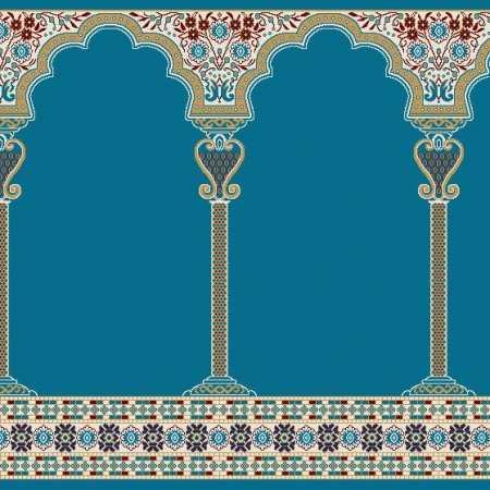 C121A K.Mavi Seccadeli Cami Halısı